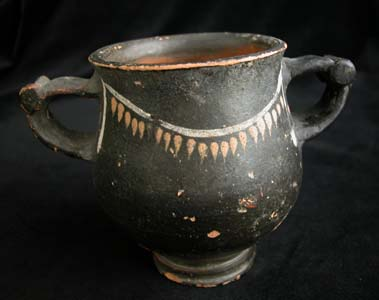 Hellenistic Blackware Two-Handled Cup