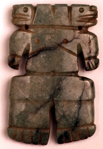 Atlantic Watershed Jade Double-Headed Figure Pendant