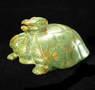 Mayan Jade Sculpture of a Turtle