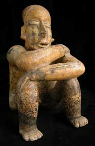 Ameca-Ezatlán Style Jalisco Terracotta Sculpture of a Seated Man
