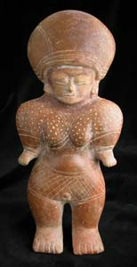 Chorrera Terracotta Sculpture of a Standing Woman