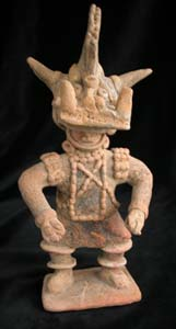 Colima Sculpture of a Masked Shaman