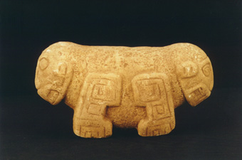 Stone Sculpture of a Double-Headed Jaguar