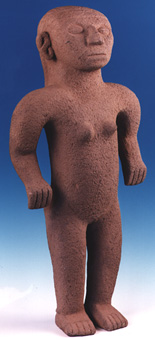 Basalt Sculpture Of A Standing   Female