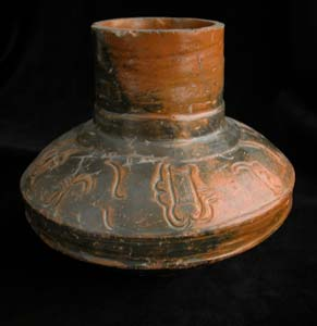 Toltec Plumbate Vessel with Incised Glyphs