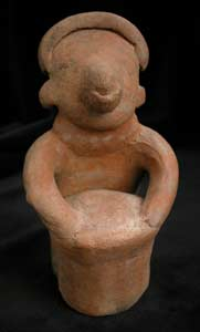 Nayarit Sculpture of a Drummer