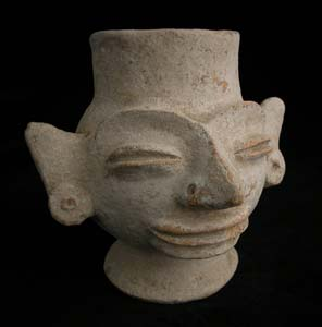 Remojadas Vessel in the Form of a Head