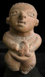 Mayan Sculpture of a Standing Man
