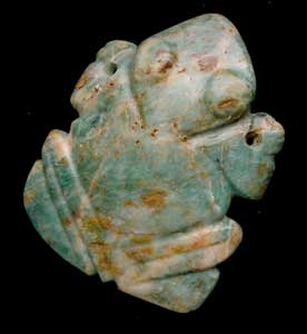 Atlantic Watershed Jade Pendant of a Toad