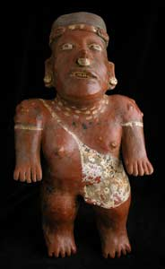 El Arenal Brown Style Jalisco Terracotta Sculpture of a Standing Man