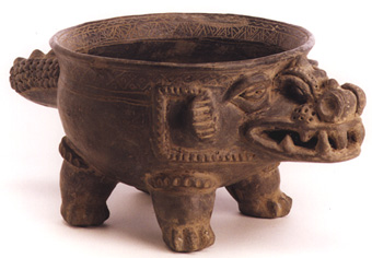 Crocodile Effigy Bowl