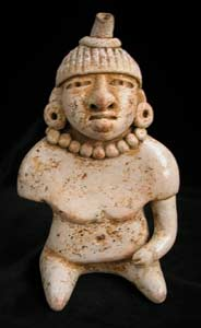 Mayan Human Effigy Whistle with Articulated Arm