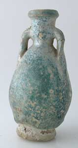 Parthian Faience Two-Handled Vessel