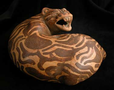 Terracotta Sculpture of a Jaguar