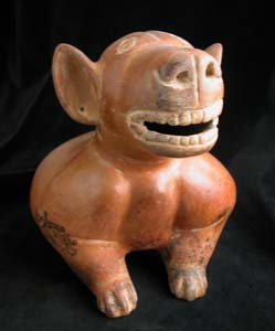 Colima Sculpture of a Seated Dog