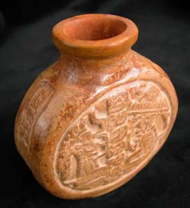 Mayan Terracotta Poison Bottle