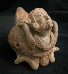 Mayan Effigy Vessel with Rattle