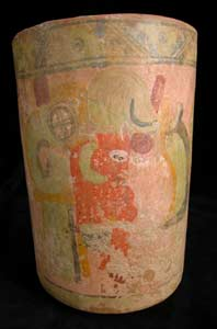 Teotihuacan Terracotta Cylindrical Vessel