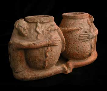 Djenne Terracotta Double Anthropomorphic Jar