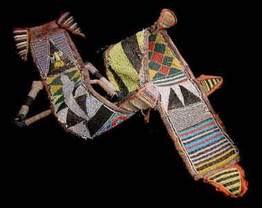 Yoruba Beaded Sheath for an Orisha Oko Staff