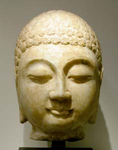 Qing Marble Head of the Buddha