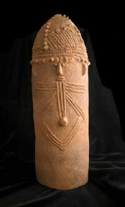 Bura Conical Vessel with a Face