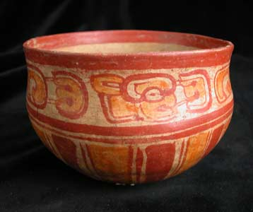 Mayan Polychrome Bowl