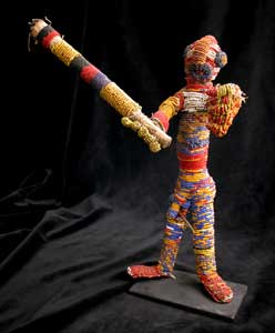 Yoruba Beaded Warrior