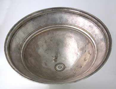 Bactrian Hammered Silver Bowl
