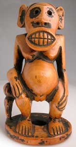 Bamun Ivory Sculpture of a Monkey and Child