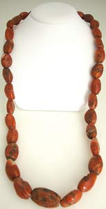 Necklace of Ancient Red Jasper Beads