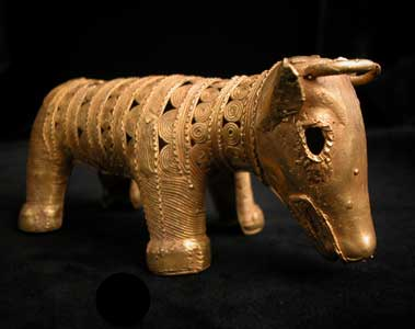 Akan Gold Sculpture of a Water Buffalo