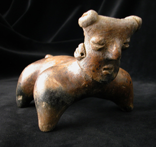 Nayarit Dog Effigy Vessel with a Human Face