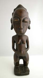 Baule Wooden Sculpture of a Woman