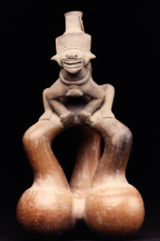 Bahia Ritual Vessel with Spider Monkey