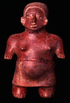 Colima Sculpture of a Standing Woman
