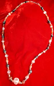 Carnelian, Rock Crystal, Garnet and Faience Beads