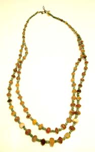 Carnelian And Egyptian Faience Bead Necklace