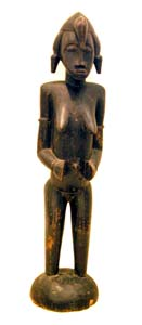 Female Senufo Wooden Pombilele Rhythm Pounder