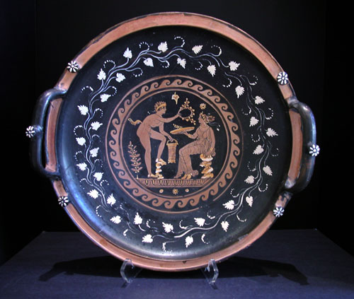 Apulian Red-Figured Knob-Handled Patera