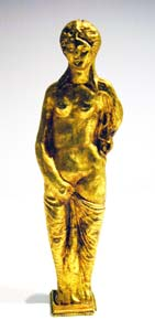 Roman Gold Sculpture of Venus