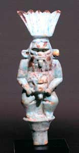 Egyptian Faience Statuette of Bes