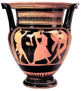Attic Red-Figure Column Krater by the Pig Painter
