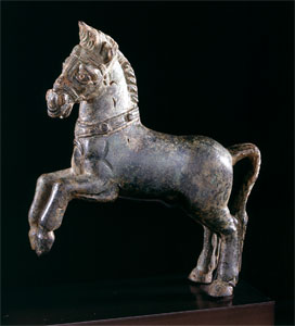 Roman Bronze Sculpture of a Horse