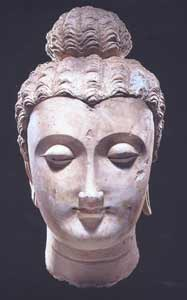 Gandharan Stucco Head of the Buddha