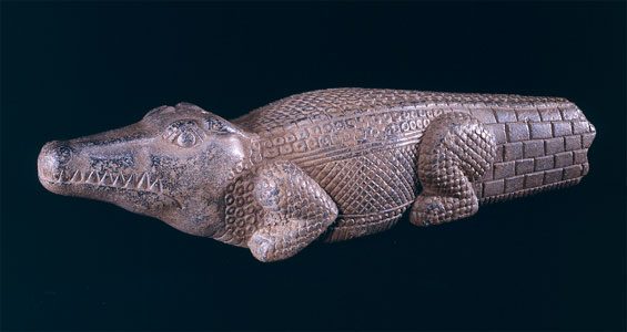 Stone Sculpture of Sobek in the Form of a Crocodile