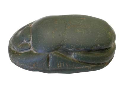26th Dynasty Green Jasper Heart Scarab