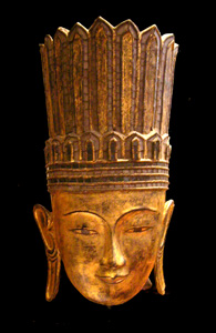 Shan Gilt Wooden Sculpture of the Buddha