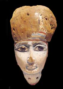 Egyptian painted wooden mask