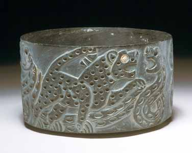 Intercultural Style Chlorite Cylindical Bowl